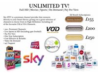 SMART TV (UK SPORTS IN HD/ 3P FOOTBALL IN HD/ SK MOVIES/ PPV BOX OFFICES FOR BOXING EVENTS)