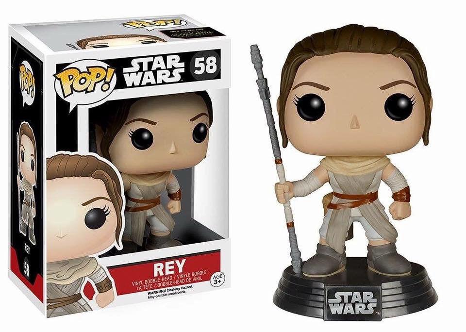 StarWars collection : Star Wars Episode VII POP! Vinyl Bobble Head Rey 10 cm figurine Funko n° 58