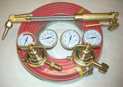 18 Acetylene Cutting Torch 70 Degree Kit Fits Harris W Regulator Set 50 Hose