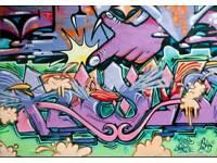 Graffiti size: 5ft x 6ft Vinyl £40.00 Graffiti Background studio background / floor