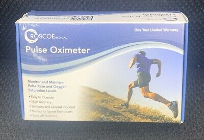 Roscoe Medical Finger Pulse Oximeter O2 Monitor Pulse Ox Finger Oxygen Monitor