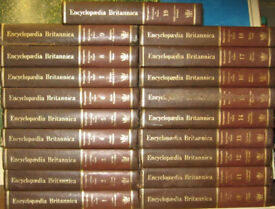 Buy 19 volumes of the Encyclopedia Britannica and 10 volumes Encyclopedia Britannica Index.