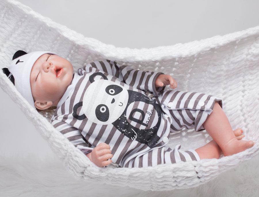 Reborn Sleeping Baby 20''Handmade Lifelike Baby Boy Doll Silicone Vinyl Newborn