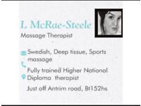 SUNDAY - MONDAY MASSAGE THERAPY APPOINTMENTS, SPORTS, SCIATICA, HEADACHES, DEEP TISSUE.