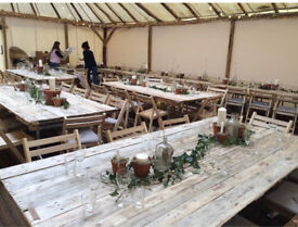 Rustic wedding table hire