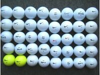 40 NIKE golf balls in very good condition, PD long, PD soft, MOJO,