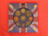 1998 UK BUNC 9 coin set - 9 brilliant coins in Royal Mint pack - FREE post to UK mainland addresses.