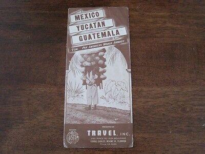 Pan American World Airways Pan Am Mexico Yucatan Guatemala Vintage Brochure