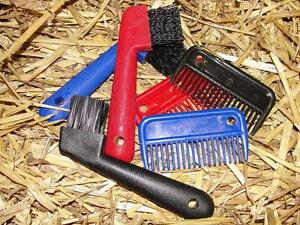 Horse-Pony-Small-Mane-Tail-Pulling-Grooming-Comb-Heavy-Duty-Hoof-Pick-Kit