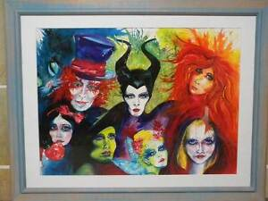"""Original Water Colour """" FAIRYTALE FANTASY """" by Artist Elisa Steel Worongary Gold Coast City Preview"""