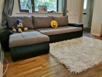 Corner sofa and storage