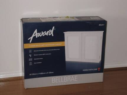 Bathroom cabinet brand new 2-door white Invergowrie Uralla Area Preview