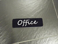 3D push pull office fitting room sign