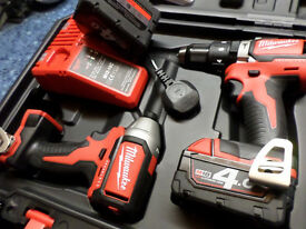 Milwaukee M18BPP2C-402C Compact Percussion Drill and Impact Driver,,NEW@@@