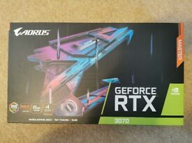 Gigabyte Aorus RTX3070 Graphics Card / GPU (new, sealed)
