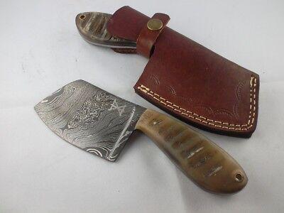 Gamsjaga Damastmesser klein GJK3 Chopper, Cleaver Ziegenhorn  Cleaver Messer