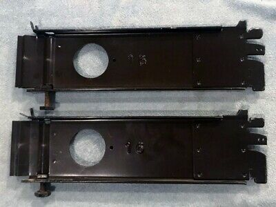 2 Gondola Shelving Low Base Bracket 16 Chocolate Brown Great Condition Used