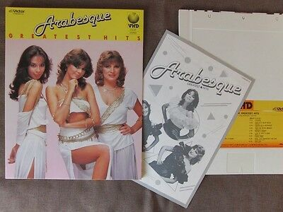 ARABESQUE-SANDRA Greatest Hits JAPAN-ONLY VHD w/Slip Case+Insert VHM58015 Ex++