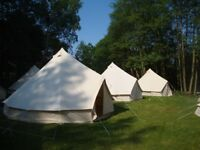 1 season old, 5m, ZIG bell tents