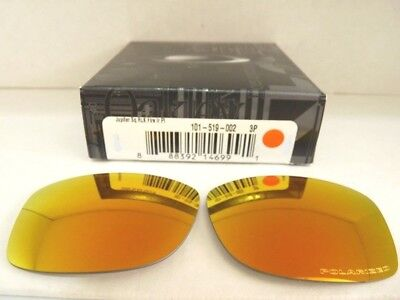 NEW OAKLEY JUPITER SQUARED FIRE IRIDIUM POLARIZED REPLACEMENT LENSES 101-519-002 for sale  Shipping to India