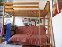 Solid Wood Bunk Bed (double size) collect ASAP
