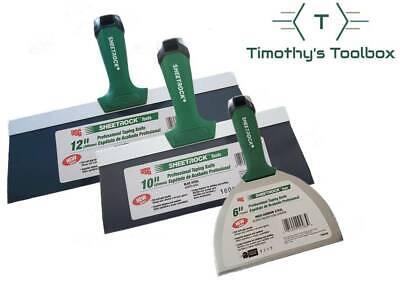 Usg Sheetrock Pro Drywall Taping Knife Set 6-10-12 Blue Steel Matrix Style Grip