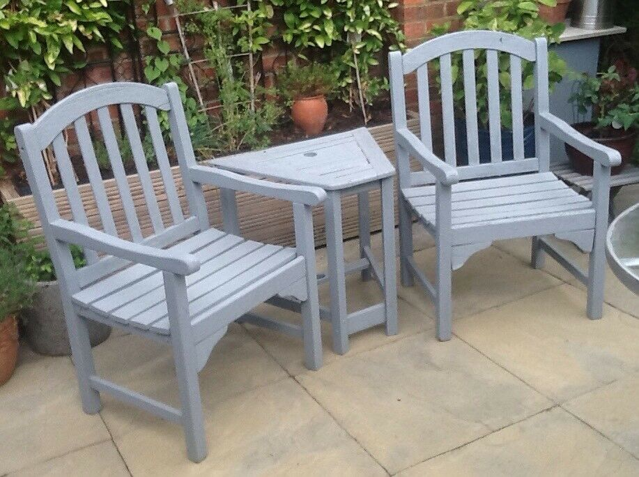 Garden Set Two Chairs And Side Table In St Albans