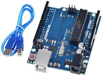 UNO R3 Board ATmega328P ATMEGA16U2 with USB Cable for Arduino IDE Projects