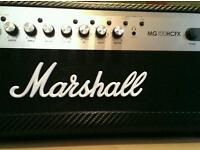Marshall hcfx100 head unit with laney 4x12 straight cabinet almost new condition