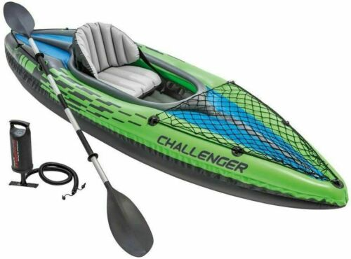 Intex Challenger K1 Inflatable Kayak w/ Oars & Pump NEW❗SEALED❗FAST❗