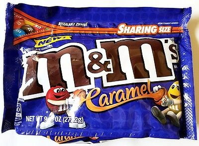 NEW Caramel M&M's 9.6 Oz With Resealable Bag VHTF Rare FREE WORLDWIDE SHIPPING