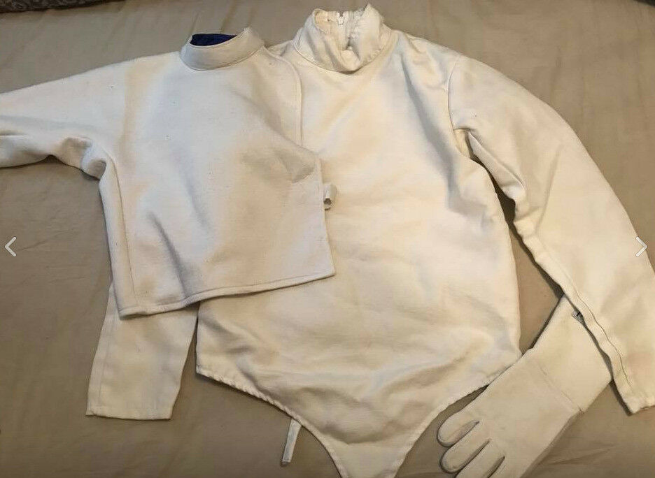 Fencing jacket, plastron and glove (Fencing kit)
