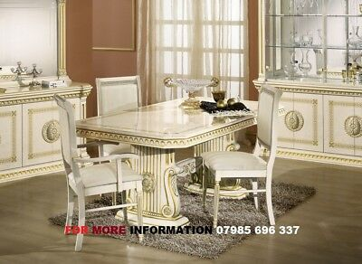 Versace style Italian dining table & chairs, Rossella Italian Dining Table set