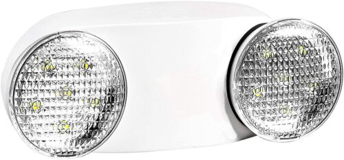 LED Emergency Exit Light Adjustable Dual Head Lamp with Battery Backup UL