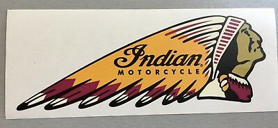 New unused Shaped Vinyl Sticker Indian motorbikes motorcycles laptop 15x5.5cm