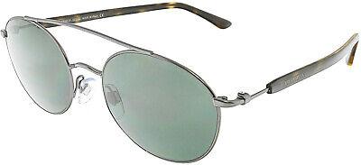 Giorgio Armani Men's AR6038-300671-50 Silver Oval Sunglasses Giorgio Armani Mens Metal Sunglasses