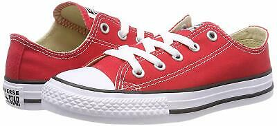 Kids Girls Converse (Kids Converse Girls All Star Canvas Low Top Lace Up Fashion, Red, Size 5.0)