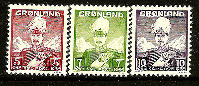 Greenland  Scott     2  -  4  Mint Never Hinged