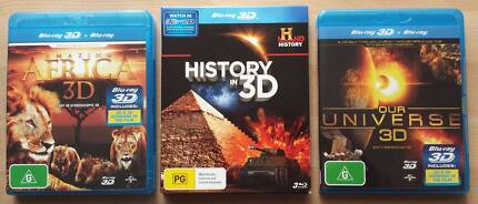 BARGAIN! TODAY ONLY : THREE BLURAY 3D PACKS (5 Discs) Craigieburn Hume Area Preview