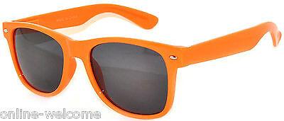 Orange Lens Sunglasses (CLASSIC 80s VINTAGE RETRO SMOKE LENS SUNGLASSES SHADES ORANGE FRAME)