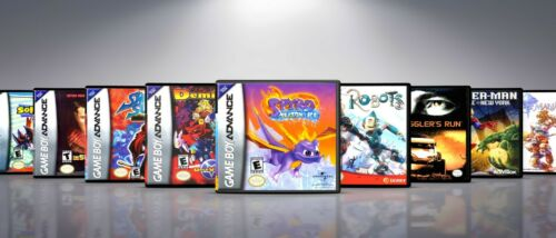 Custom Covers and Cases for Gameboy Advanced GBA: Titles Q-S. NO GAMES!!!