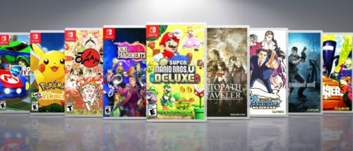 Custom Nintendo Switch Covers and Cases: Titles N-R. !! NO GAMES !!