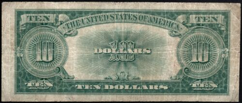 1923 $10 Ten Dollar Pokerchip United States Note Fr#123