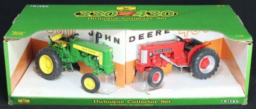 Ertl John Deere 330 & 430 Series Tractor Dubuque Collector Set - 1/16 Scale NIB