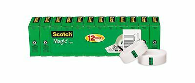 Scotch Brand Magic Tape, Cuts Cleanly, Engineered for Repairing, 3/4 x 1000 I...