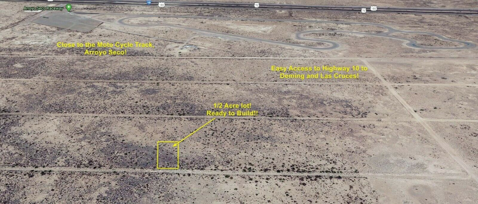 NO RESERVE 1/2 Acre Land 4 Sale In Deming, New Mexico. INVEST IN LAND TODAY  - $387.00