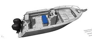 5.8m aluminium plate boat centre console bare hull only Carrum Downs Frankston Area Preview