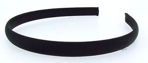 Brand New PLAIN SATIN SIMPLE Alice Band HAIR BAND HEADBAND - 1.2cm Wide