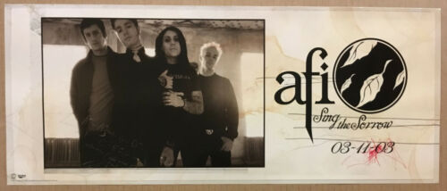 AFI Rare 2003 PROMO POSTER w/ RELEASE DATE for Sing CD NEVER DISPLAYED 22x9 USA