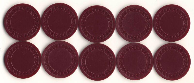 NEW 500 4g BURGUNDY Plastic Diamond Roulette or Poker Chips NEW Free Shipping *
